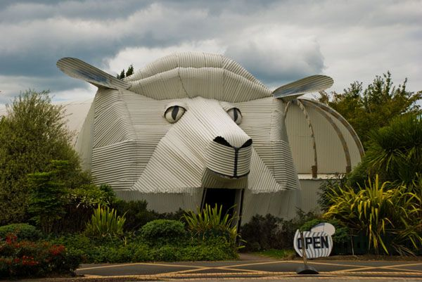 Dziwny dom w kształcie zwierzaka